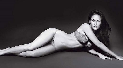 Megan Fox posó en ropa interior para Armani