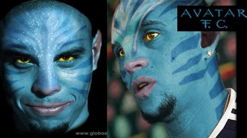 """La fiebre """"Avatar"""" llegó a Ronaldo y Roberto Carlos"""