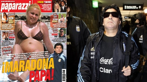 Prensa argentina afirma que Maradona será papá