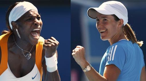 Serena Williams y Justine Henin se verán en la final del Abierto de Australia