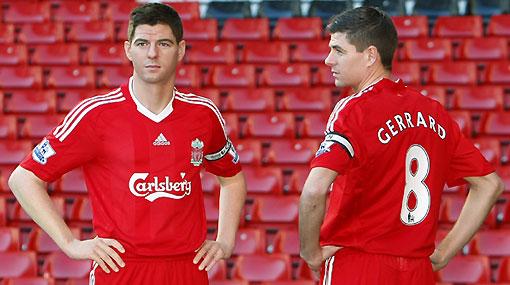 ¿Quién es quién? Steven Gerrard se encontró con su doble de cera