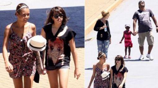Vea a las hijas de Madonna disfrutando de un día de playa en Brasil