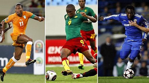 Drogba, Eto'o y Essien fueron nominados al jugador africano del 2009