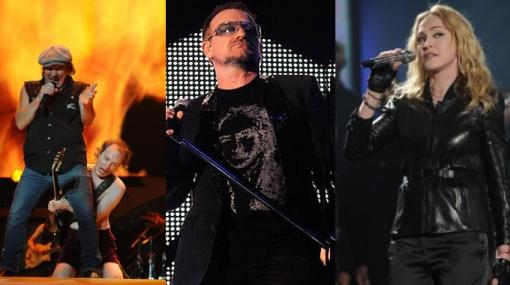 La crisis también golpeó a las estrellas de la música internacional