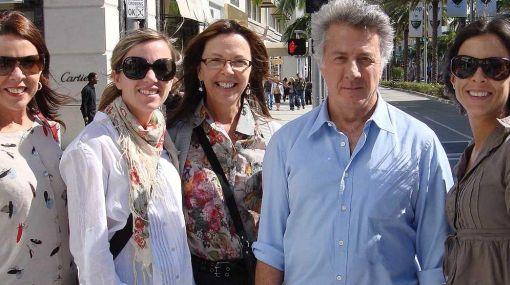 """El equipo de """"La teta asustada"""" posó junto al reconocido actor Dustin Hoffman"""