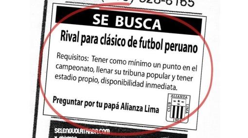 Hinchas de Alianza Lima se burlan de la mala racha de la 'U' en Facebook