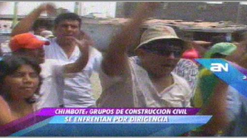 Violencia en Chimbote: bandos de Construcción Civil en enfrentaron con palos y piedras