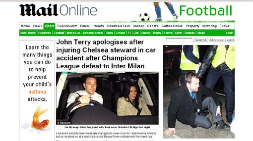 John Terry sigue de malas: atropelló a una persona saliendo del estadio
