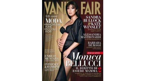 """A sus 45 años, Mónica Bellucci luce su segundo embarazo para """"Vanity Fair"""""""