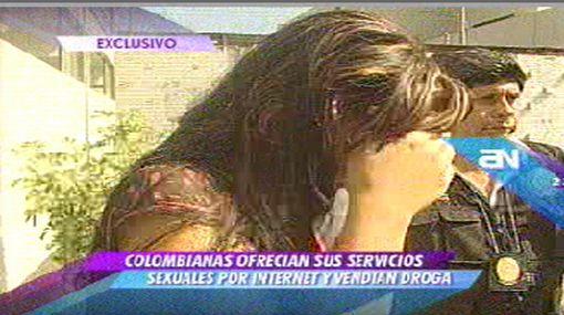 Prostitutas colombianas que vendían drogas fueron detenidas en Miraflores cuando esperaban a un cliente