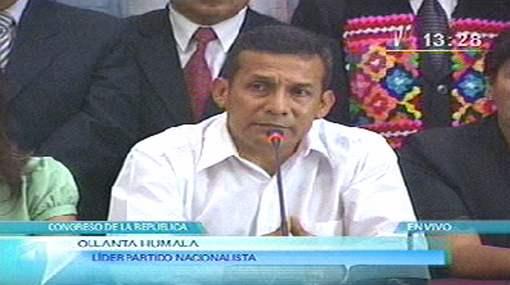 Ollanta Humala oficializó pedido de vacancia contra el presidente García