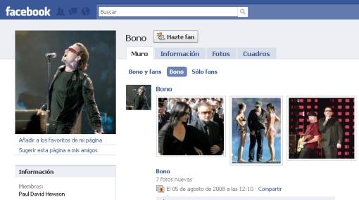 Bono pagó 90 millones de dólares por el 1% de acciones en Facebook