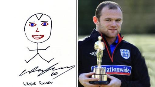 """Wayne Rooney hizo un autorretrato y su estilo fue """"similar"""" al de Picasso"""