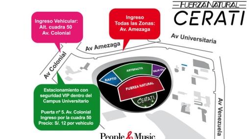 Vea los accesos para el concierto de Gustavo Cerati en Lima
