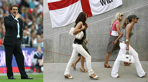 Capello permitirá que las esposas de los jugadores ingleses vayan al Mundial