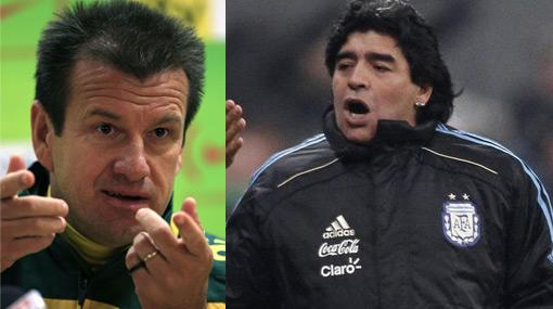 Dunga y Maradona podrían ser campeones como jugadores y como técnicos