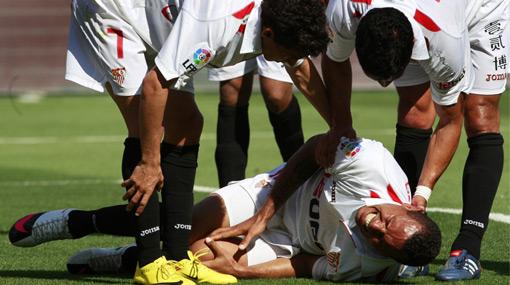 Un susto: Luis Fabiano se lesionó, pero sí llegará al Mundial