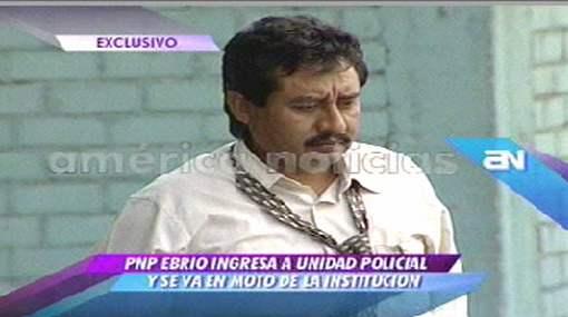 Policía llegó borracho a sede de la Divincri de San Juan de Lurigancho