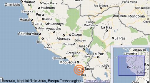 Sismo de 6,5 grados remeció el sur del Perú en la frontera con Chile