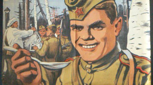 Rusia recuerda la Segunda Guerra Mundial con la comida del frente de batalla