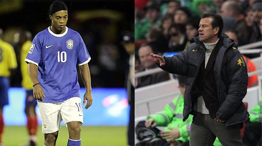 La ausencia de Ronaldinho enfrentó a Dunga con la prensa mundial