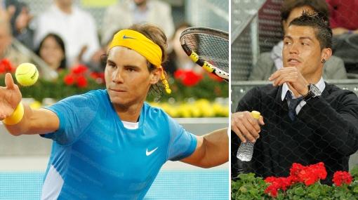 Nadal ganó a Isner y se lució ante Cristiano Ronaldo en Madrid