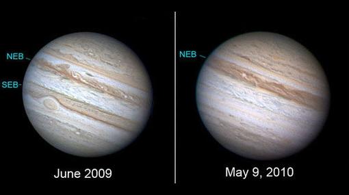 Desapareció un cinturón de Júpiter