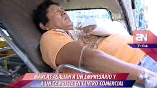 Ola de asaltos: encapuchados hieren a cambista y a un empresario en Wong de Camacho