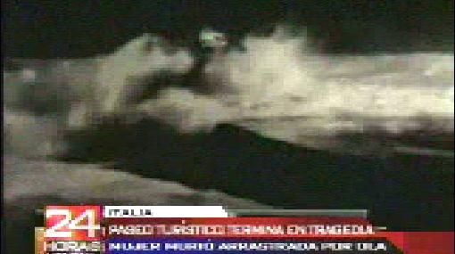Duras imágenes: madre murió ahogada tras salvar a su hijo de ola gigante
