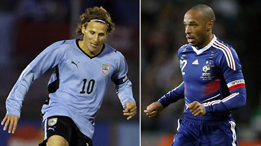 Vencer a Francia, la primera 'meta' de Uruguay en Sudáfrica 2010