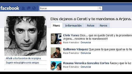 """""""Dios, déjanos a Cerati y te mandamos a Arjona"""", suplican los fans en grupo de Facebook"""