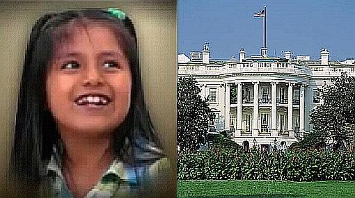 La niña peruana convertida en el símbolo de los inmigrantes en EE.UU. quiere conocer la Casa Blanca