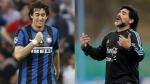 Diego Milito logró triple corona de Europa y quiere un espacio en el once de Maradona - Noticias de privilegios