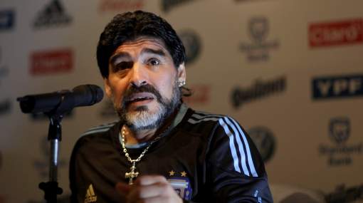 """Maradona dice que Argentina tiene """"velocidad supersónica"""""""