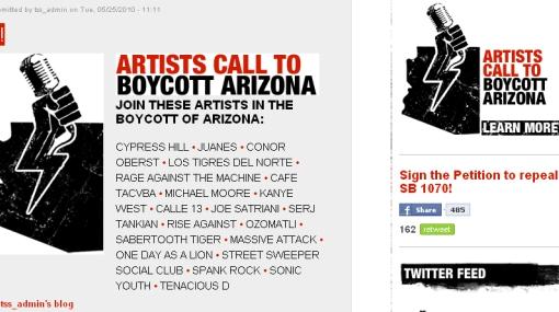 Rage Against the Machine, Juanes, Café Tacvba y otros artistas llaman al boicot contra ley de Arizona
