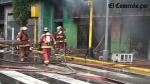 Incendio en edificio del centro de Lima dejó tres heridos - Noticias de luis chumpitazi