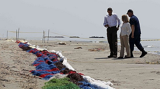Obama visitó nuevamente Luisiana para calmar las críticas por el derrame de petróleo