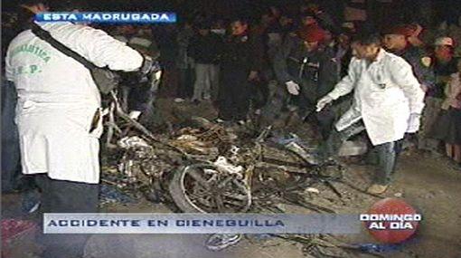 Brutal choque de mototaxi dejó dos personas muertas en Cieneguilla