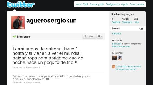 El 'Kun' Agüero se convirtió en vocero 'no oficial' de Argentina gracias a Twitter