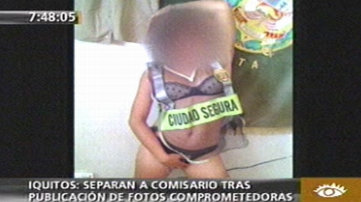Policía fue fotografiado con menor semidesnuda en comisaría de Iquitos