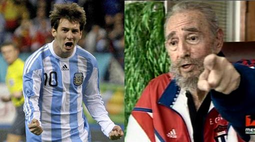 Fidel Castro no escapó a la fiebre por el Mundial y elogió la velocidad de 'rayo' de Lionel Messi