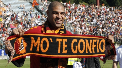 Caserito: Adriano fue elegido por tercera vez el peor jugador del campeonato italiano