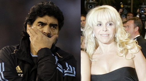 La ex esposa de Maradona fue confundida con un 'barrabrava' en Johannesburgo