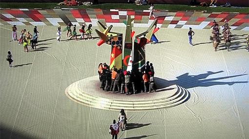 """Sudáfrica 2010 se inauguró a lo grande en una ceremonia al """"estilo africano"""""""