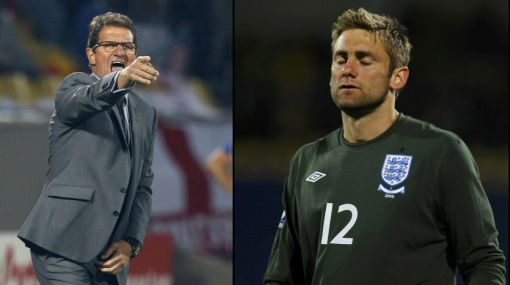 Fabio Capello podría sacar del arco a Robert Green por su terrible error