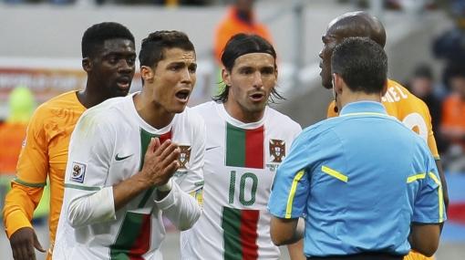 """Cristiano Ronaldo atribuyó a la """"mala suerte"""" el empate ante Costa de Marfil"""