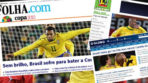 """La selección de Dunga """"coqueteó con el desastre"""" aseguró la prensa brasileña"""