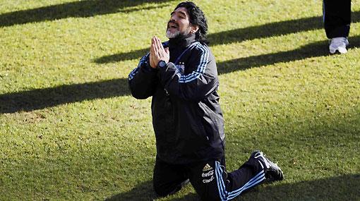 """Maradona: """"Quiero ganar el Mundial... y tengo a Messi"""""""