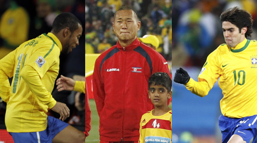 Salió ganando: El 'Wayne Rooney asiático' se fue del Brasil-Corea del Norte con las camisetas de Kaká y Robinho