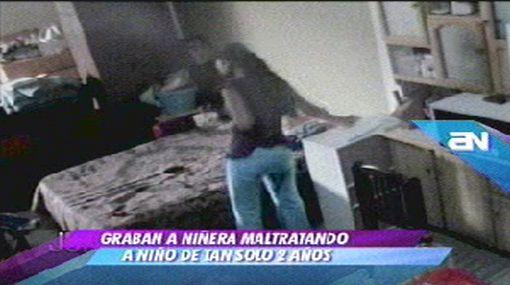 Con una cámara oculta madre pudo comprobar que hijo era maltratado por su niñera